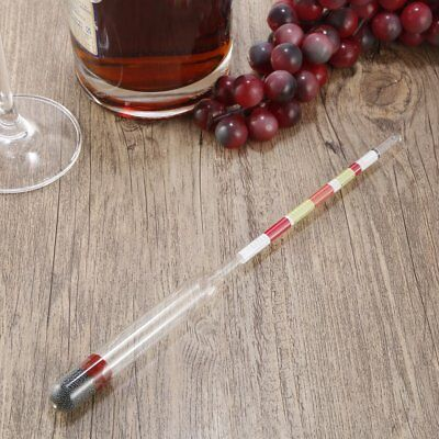 3 Scale Home Brew Hydrometer Wine Beer Cider Alcohol Testing Making Tester UB