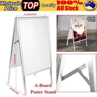A-Board Pavement Shop Sign A1 Snap A Frame Poster Double Sided Display Stand AU