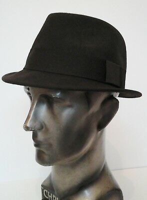 f21a3eb2 Failsworth Manhattan Brown Wool Felt Trilby. Stingy Brim, Blues Brothers  Style.