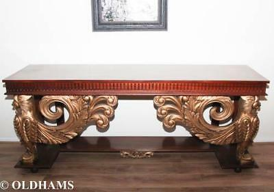 Stunning Mahogany and Gilt French Empire Style Console / Pier Table
