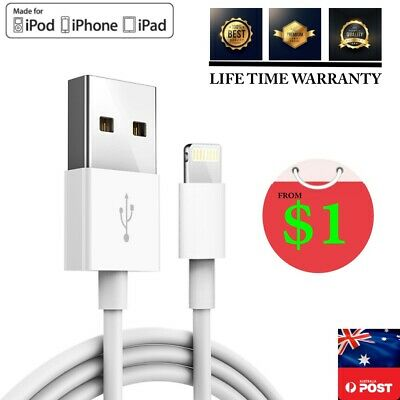 2m 1m 20cm USB Lightning Cable Cord Data for Apple Charger iPhone X 6 iPad mini