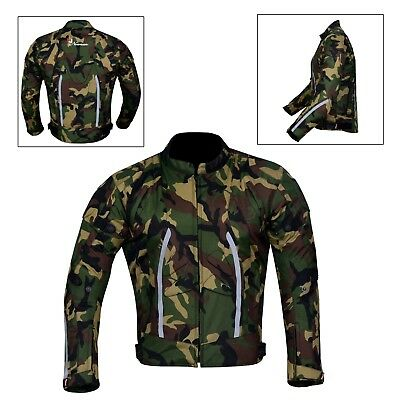 MCW Men Mens Camo Motorcycle Motorbike Armour Textile Jacket CE Protector Waterproof Windproof Racing /& Sport Jacket Black, M