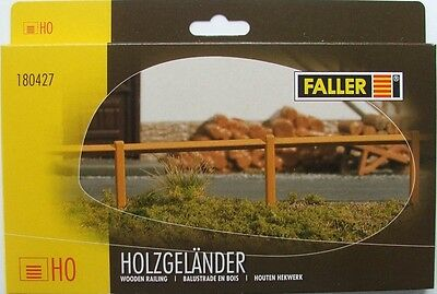 FALLER HO scale ~ WOODEN RAILING ~ 124 CM LONG - fencing for your model railway