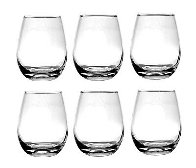 Water / Whisky / Juice Tumbler Drinking Glasses - x6 - 350ml Water Glass Juice