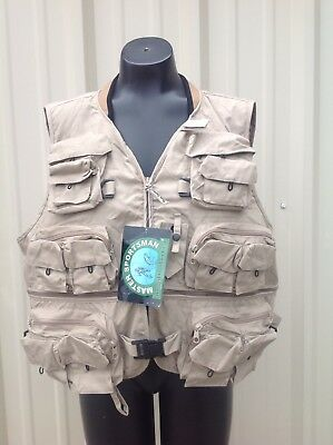 Master Sportsman Fly Fishing Vest, Tan, XL ~  New with Tag