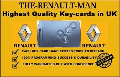4 button key card suitable for Renault Megane/Scenic lll key-less 2009-2016