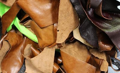 Bag Of 2KG Mixed Quality Scrap Leather Crafts & Arts, Off Cuts, Remnants, Pieces