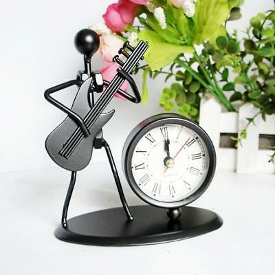 Iron Craft Musicial Instrument Gadget Table Desk Alarm Clock Decoration Craft CN