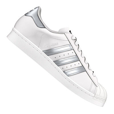separation shoes deecd 234a1 Adidas Originale Superstar Sneakers Bianco Argento