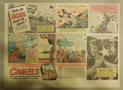 Camel Cigarette Ad: Navy Rear Gunner WW 2 Size: Half or Tabloid Page 1940's