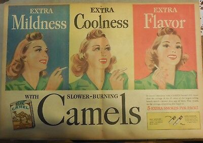 Camel Cigarette Ad: Pretty Girl, Mildness, Flavor Full Page Size ! from 1940