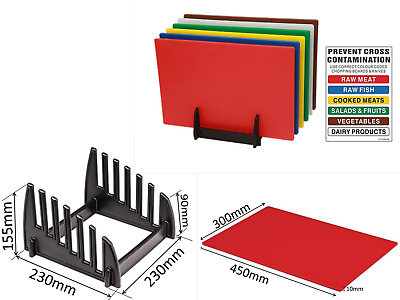 6 X Professional Catering Chopping Board Colour Coded Cutting Boards Commercial