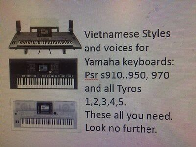VIETNAMESEYAMAHA KEYBOARD STYLES,VOICES,MIDI for PSR s910