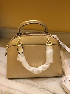 fbdafec0ff21 Michael Michael Kors Emmy Sm Dome Satchel/shoulder Bag ~Pale Gold~Nwt