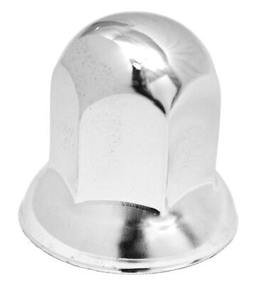 "lug nut covers(20) 33MM flange standard 2"" tall chrome for Freightliner Kenworth"
