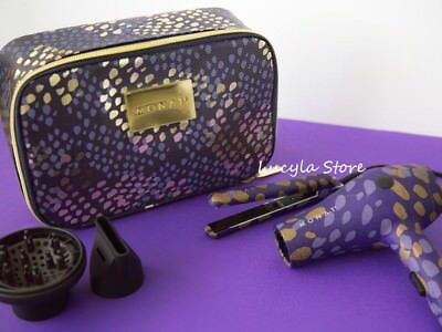 """MONAT Hair """" The Stylin' On The Go """" Set Blow dryer + Flat Iron + Travel Case 3P"""