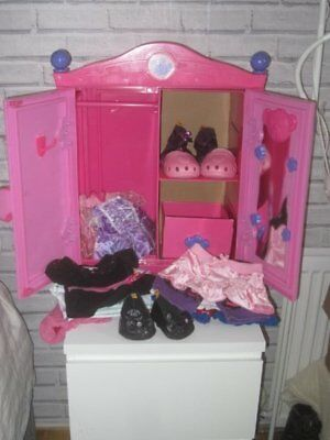 pink BUILD A BEAR WARDROBE bundle filled with 10 outfits clothes and 3 prs shoes