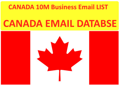 CANADA CONSUMER LISTS, Canada B2C 10 Million+ emails Targeted list for Sales
