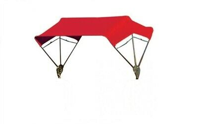 """Tractor & Mower Umbrella Buggy Top 3 Bow 40"""" Frame & Red Cover"""