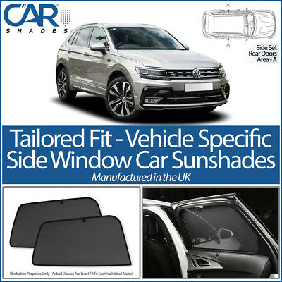 VW Tiguan 5dr 16> CAR SHADES UK TAILORED UV SIDE WINDOW SUN BLINDS PRIVACY BABY