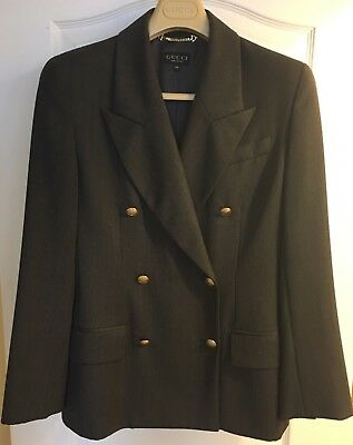 3ccd501c7 Gucci Vintage Authentic Womens Blazer Jacket Gray 44 Made In Italy Circa  1993