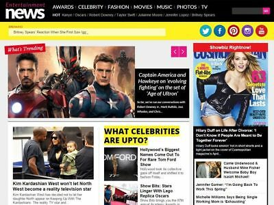 Fully Autopilot Celebrity/Entertainment NEWS Website -100% Autopilot - SEO Ready