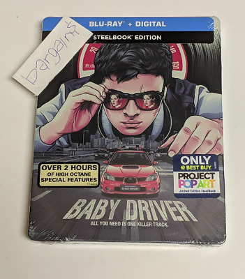 Baby Driver Limited Edition STEELBOOK Blu-ray Includes Digital HD Free Shipping