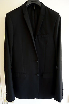 DIOR HOMME - Veste de Costume Smoking Tuxedo Suit Blazer 48 M Black Wool  Wedding 327a09cdd7f