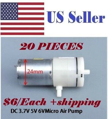 (Pack of 20) 6V DC 370 High-power Small Mini Micro Air Pump Aquarium Air Vacuum