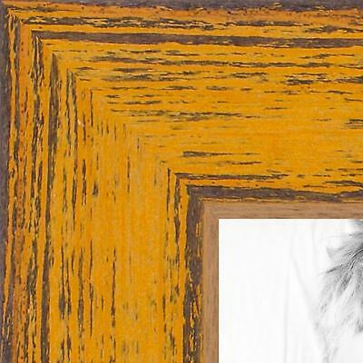 ArtToFrames 18x24 inch Gold Rustic Barnwood Wood Picture Frame