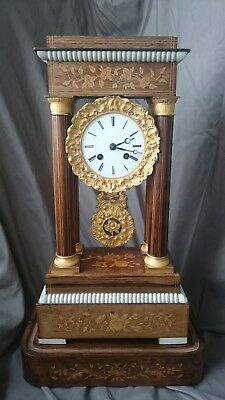 Antique french portico gilt clock in style Charles X.
