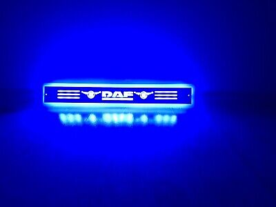 1x New 24V LED Blue Neon Interior Cabin Light Sign Plate for DAF Truck LED TABLE