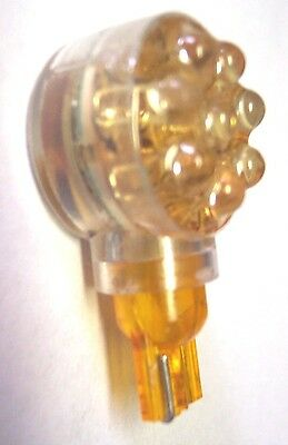 LED bulb 194 amber side type 8 diodes wedge base for cab marker parking light