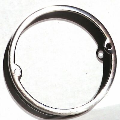 "light bezel 3"" round stainless steel for Peterbilt top of cab light 2 screw"