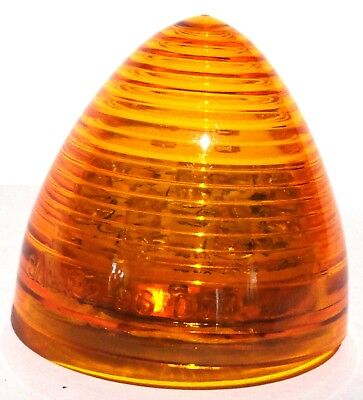"LED light, 2"" beehive cone 9 amber diodes amber lens for Peterbilt Kenworth"