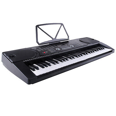 Digital Keyboard Klavier Piano 61Tasten 128 Sounds Rhythmen Lernfunktion Schwarz
