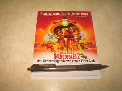 Incredibles 2 (DVD, 2018) **CANADIAN DIGITAL CODE ONLY** **READ**