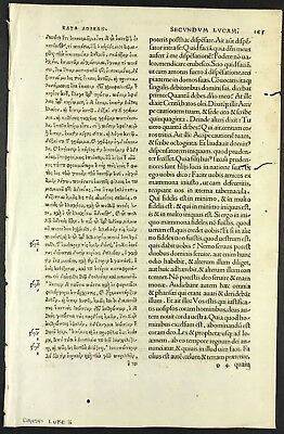 1519 ERASMUS GREEK Bible Leaf 2Nd Edition - Rare Martin Luther - You Choose  Text