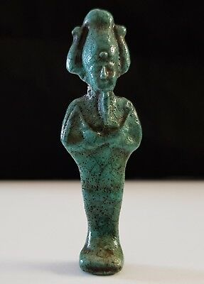 Beautiful Egyptian Glazed Faience Amulet of God Osiris