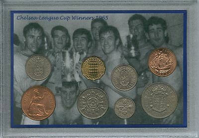 Chelsea Vintage League Cup Final Winners Retro Coin Supporter Fan Gift Set 1965