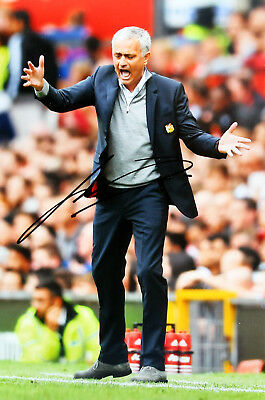 "JOSE MOURINHO signed photograph 12x8"" - MANCHESTER UNITED FC #MUFC"