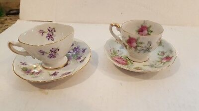 Vintage Rossetti and Lefton China Teacup and Saucers - Lot 2
