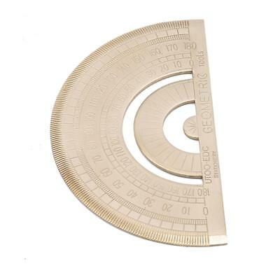 1 PC Copper Thicken Round Head 180° Protractor Angle Finder Rotary Ruler DD
