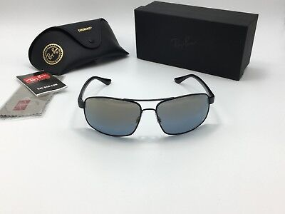 5b97fdc285 RAY-BAN RB4312CH SUNGLASSES 601SA1 Matte Black Blue Mirror Polarized ...