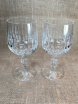 Set of 2 Schott-Zwiesel Crystal Water Wine Goblets Tango Pattern 6 3/4'' Tall
