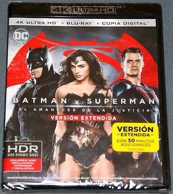 BATMAN V SUPERMAN  AMANECER DE LA JUSTICIA . Bluray Blu ray + 4K ULTRA HD - UHD
