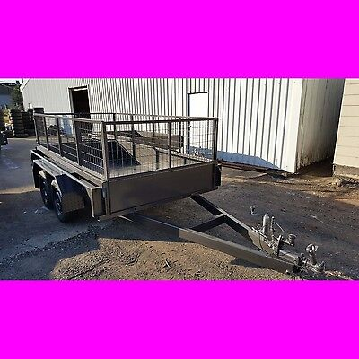 10x5 tandem trailer box trailer with cage Australian made 2000kgs