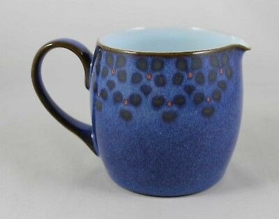 Denby MIDNIGHT Creamer ~ Handcrafted in England ~Blue Black & Red Fine Stoneware
