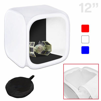 Table Top 12x12 Photo Studio Soft Box Light Tent Cube with 4 Backdrop