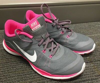 602890cd42fa Nike Flex Trainer 5 Grey White Pink Womens Sneakers 724858 003 Size 9